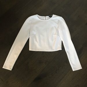 zip up white sweater